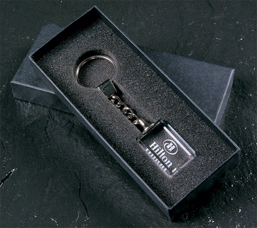 Crystal key ring