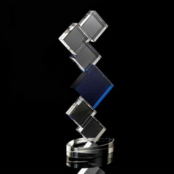 Crystal square tower award